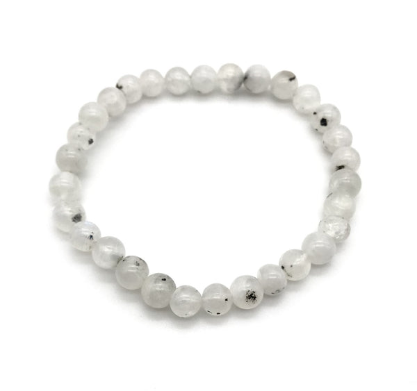 Natural Moonstone Gemstone Stretch Bracelet