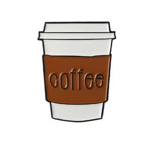 Cute Coffee to-Go Cup Trendy Enamel Pin