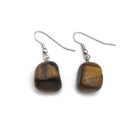 TIGERS EYE TUMBLED EARRINGS