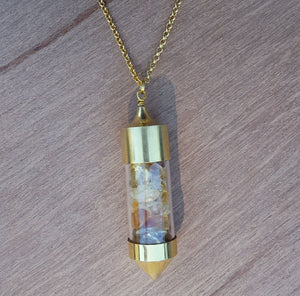RAW GOLD CITRINE BOTTLE NECKLACE