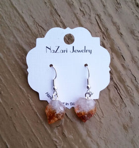 Natural Citrine Drop Dangle Earrings