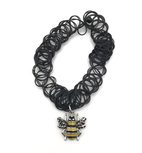 90s VINTAGE BUMBLE BEE STRETCH CHOKER