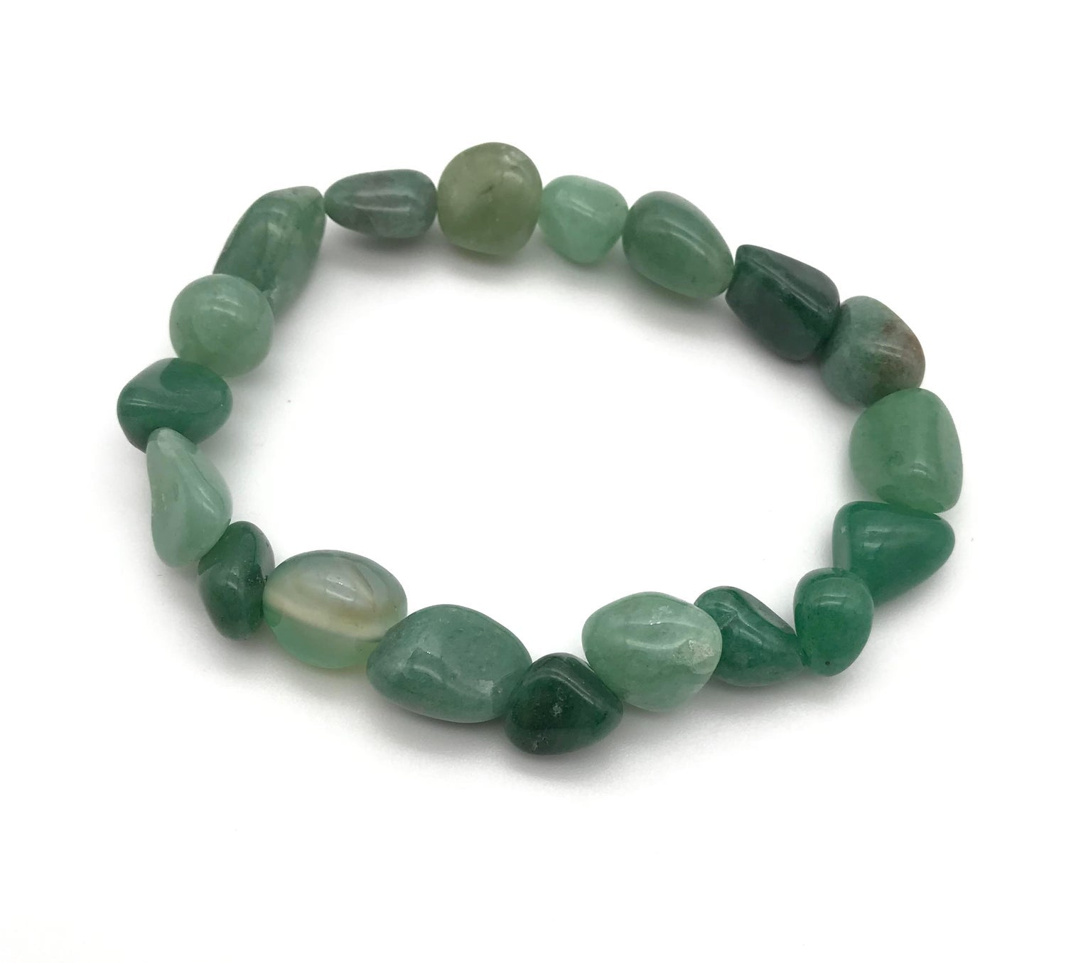 Aventurine Tumbled Gemstone Stretch Bracelet