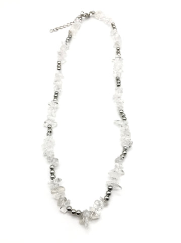 Natural Quartz Chip Gemstone Crystal Necklace