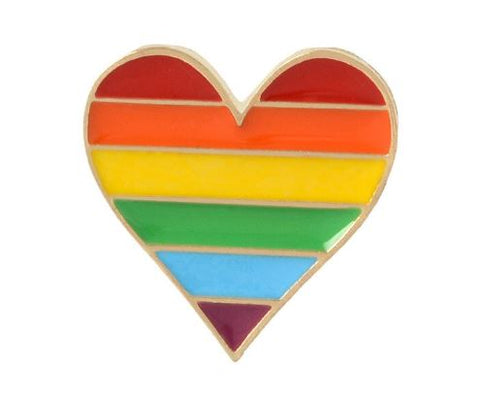 Pride Rainbow Flag Enamel Lapel Pin