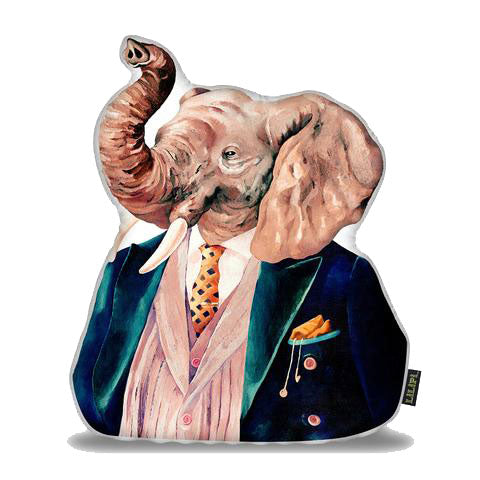 Elephant Pillow This unique artisan pillow invites brilliance, bliss, and comfort like never before, it has a perfect finishing touch to sofas, beds, and home decors. It is perfectly crafted by skilled artisans, with an inscribed eye-catchy image on both