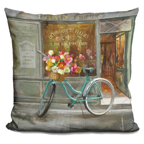 artepillows.com French Flowershop Pillow by Danhui Nai