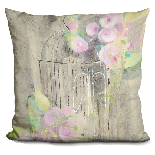 Birdcage Floral I Pillow