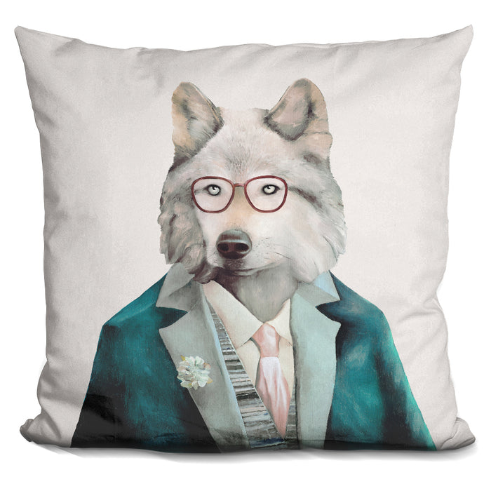 Grey Wolf Pillow