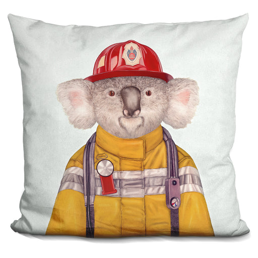 Koala Firefighter Pillow