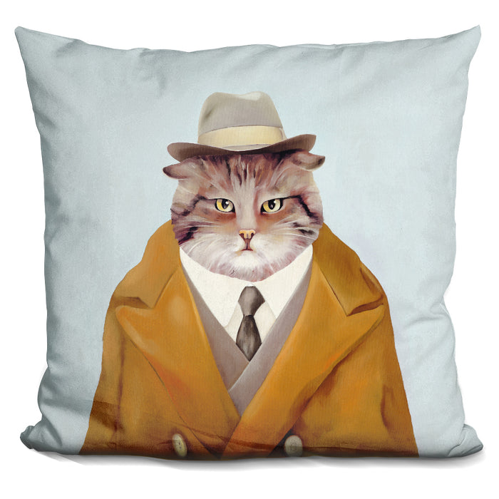 Detective Cat Pillow
