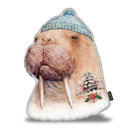 Tattooed Walrus Pillow