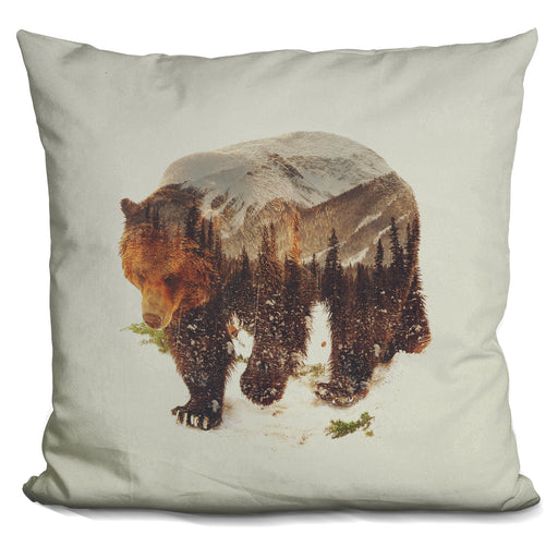 Wild Grizzly Bear Pillow