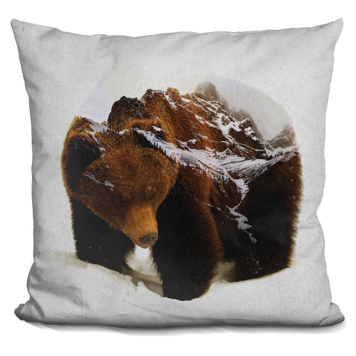 Bear In The Mountains Pillow