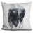 Bison In Mist Pillow