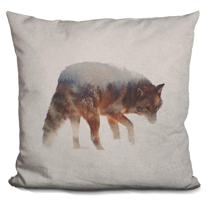 Coyote In The Fog Pillow