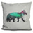 Fox In The Aurora Borealis Pillow