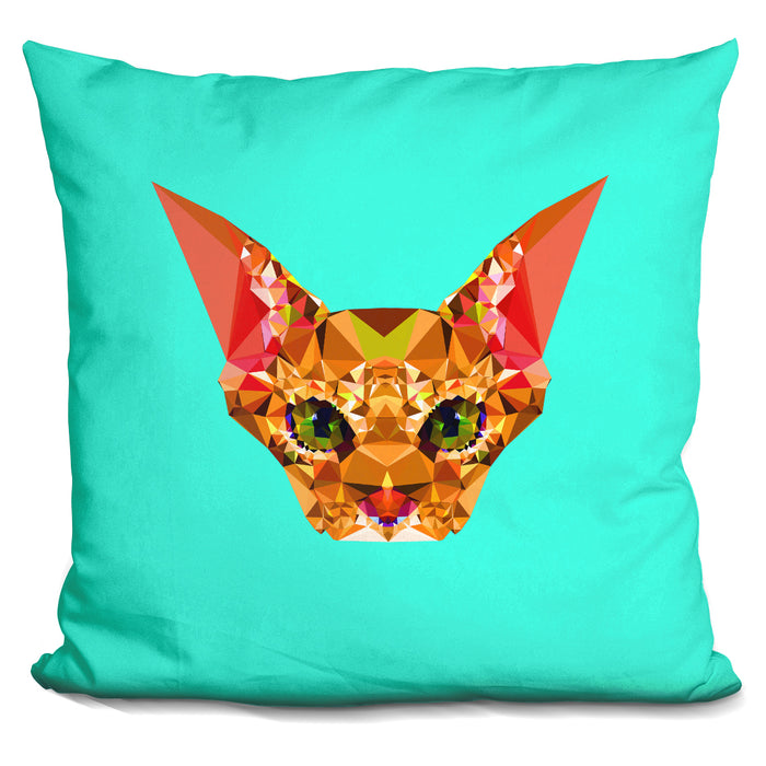 Geometric Cat Pillow