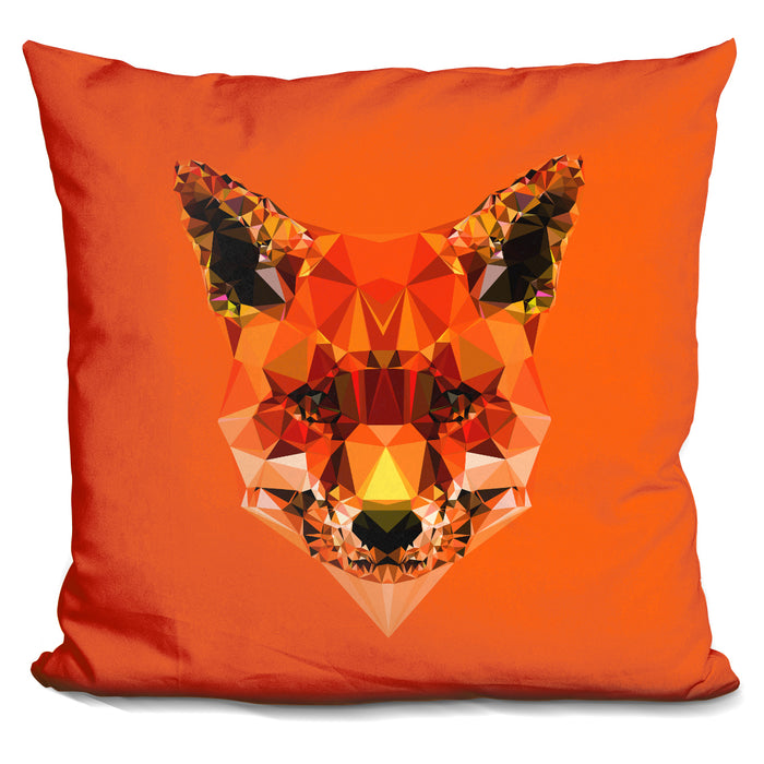Geometric Fox Pillow