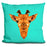 Geometric Giraffe Pillow