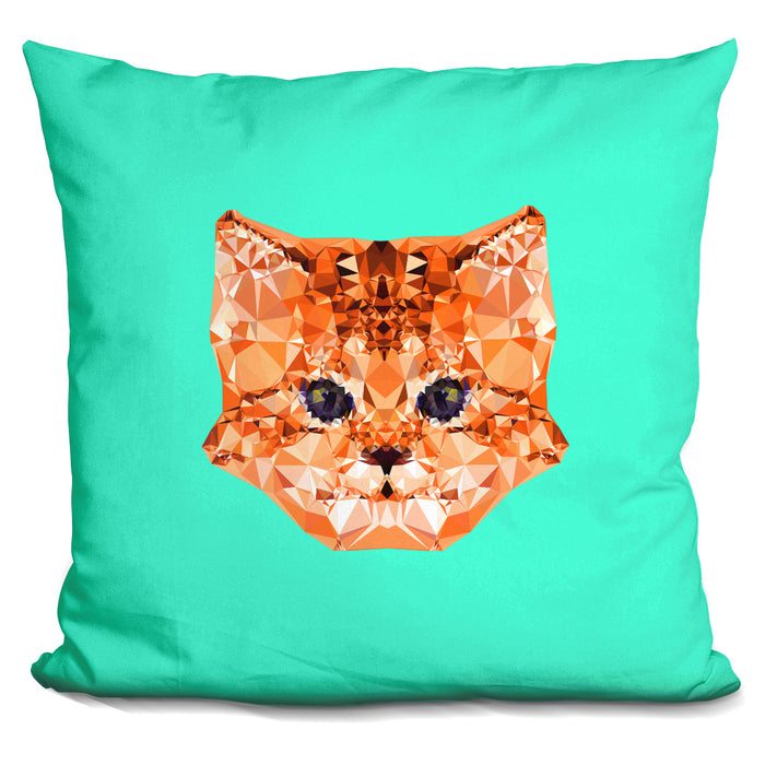 Geometric Kitten Pillow