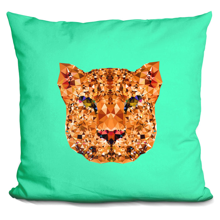 Geometric Leopard Pillow