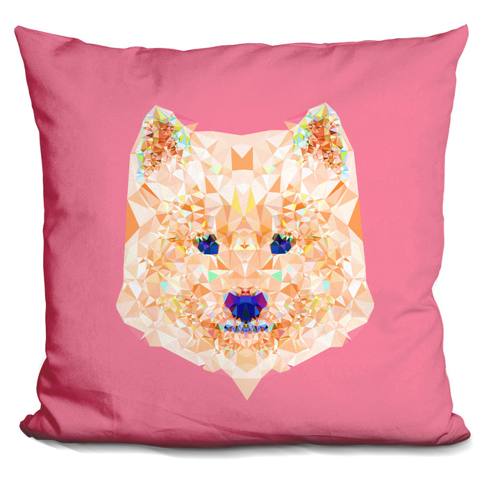 Geometric Samoyed Pillow