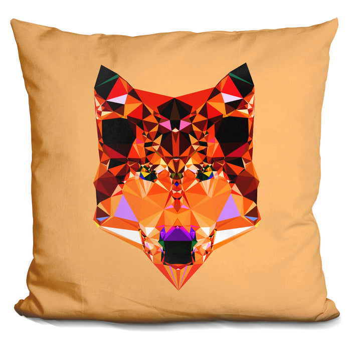 Geometric Wolf Pillow