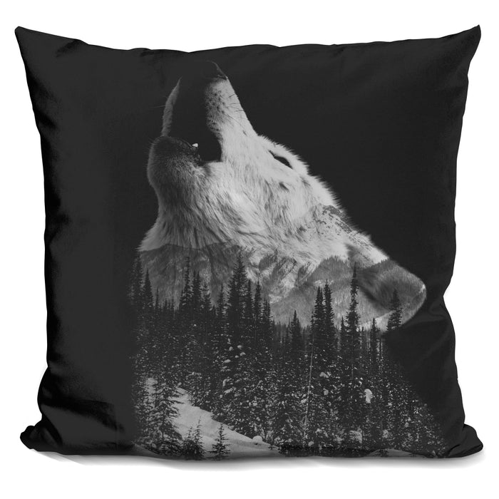 Howling Wolf Pillow