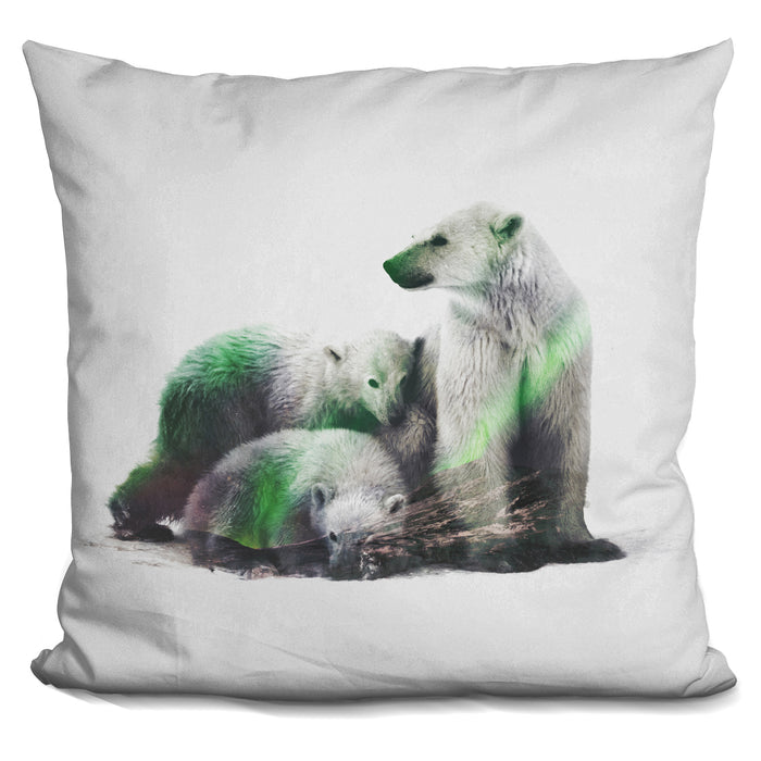 Arctic Polar Bear Family Pillow
