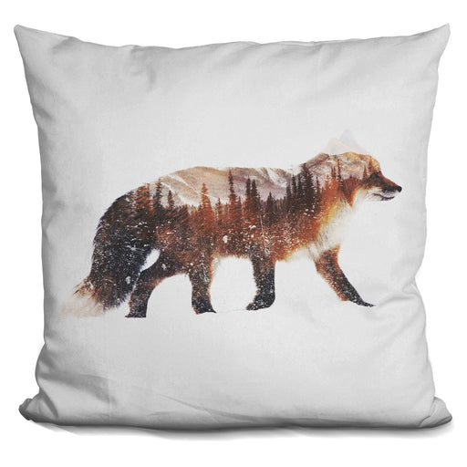 Arctic Red Fox Pillow