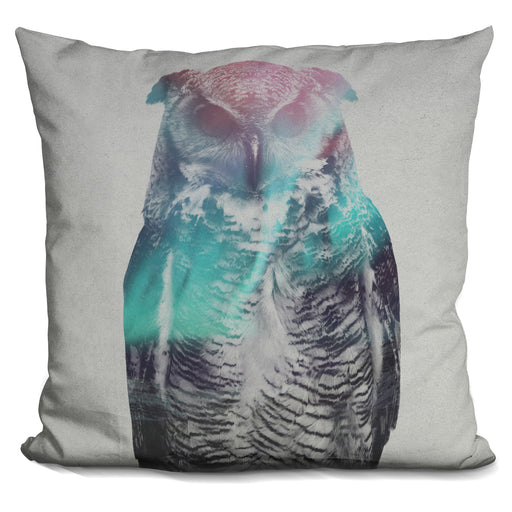 Owl In The Aurora Borealis Pillow