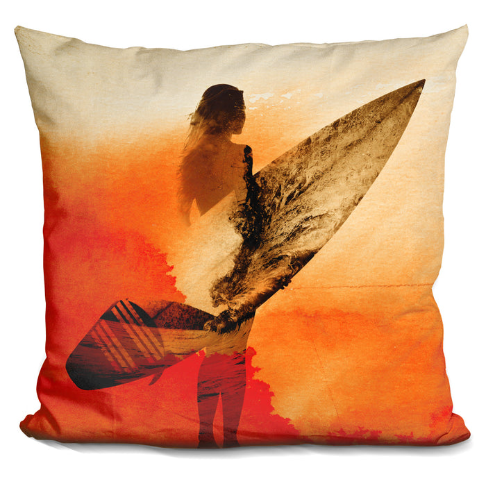 Surfers Morning Pillow