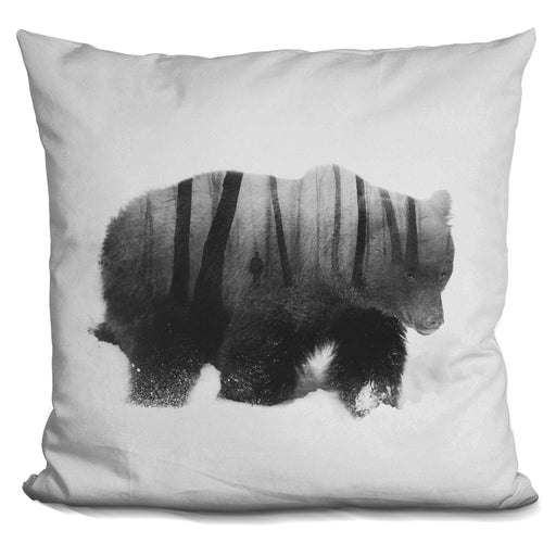 Watched By Grizzly Bear Pillow