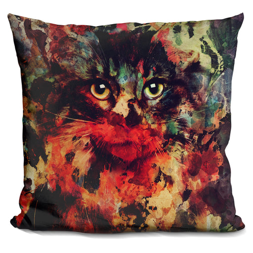 Watercolor Cat Pillow