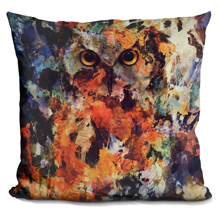 Watercolor Owl Pillow