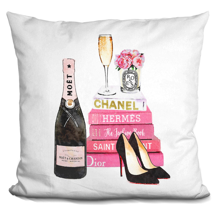 Book Stack Pink With Champagne Silver Pillow
