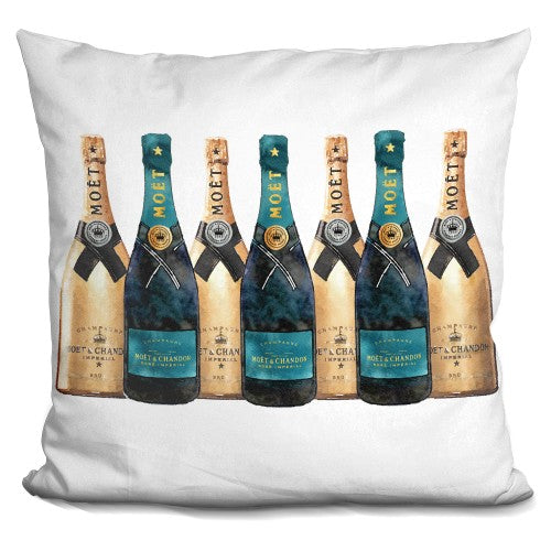 Champagne7 Full Row Dark Teal Gold Pillow