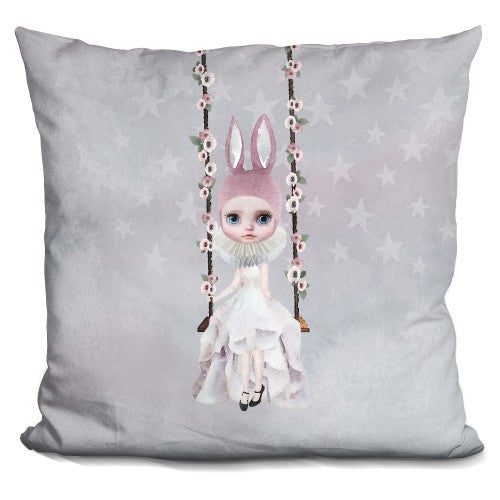 Miss Lily Rabbit On Swing Pillow