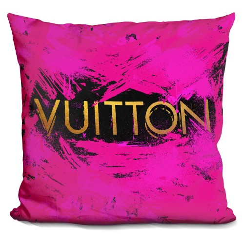 Vu Pink Spla Gold Pillow
