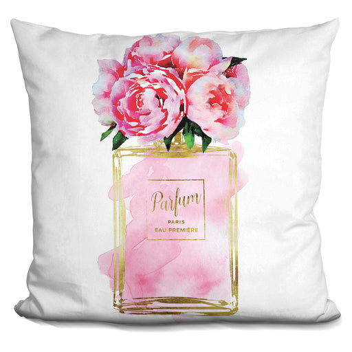 Perfume Vase Peonies  Nonbranded Pillow