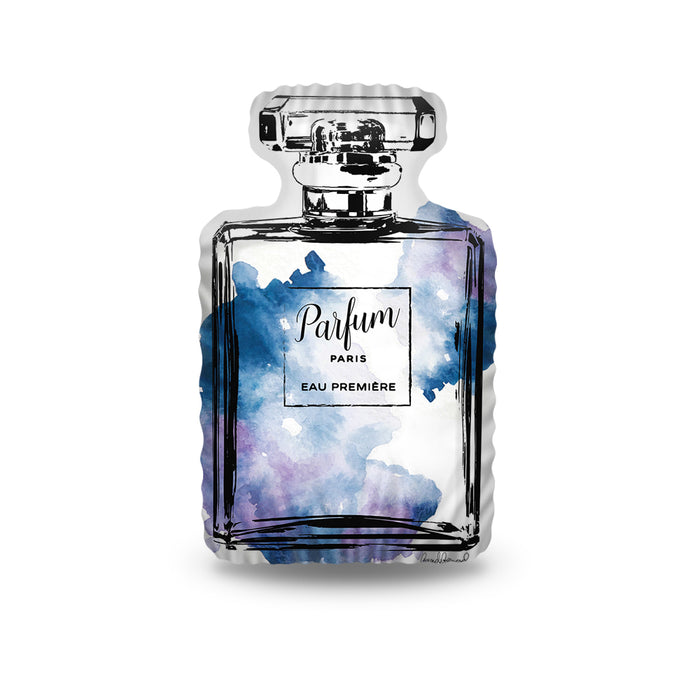 Perfume Bottle Blue Pillow