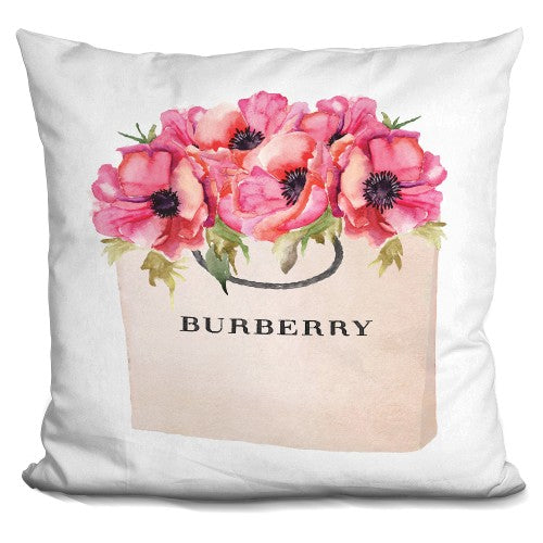 Burberry Bag Poppy Pillow