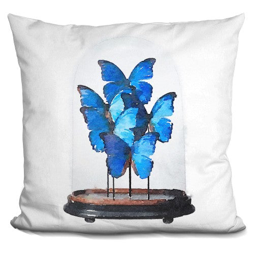 Butterflies Dome Blue Pillow