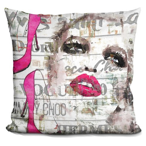 Face With Shoes Pillow