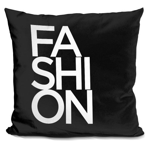 Fashion Font Pillow
