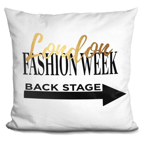 Fashion Week London Pillow
