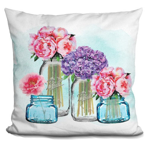 Glass Jar Tall Collection Blue Wa Pillow