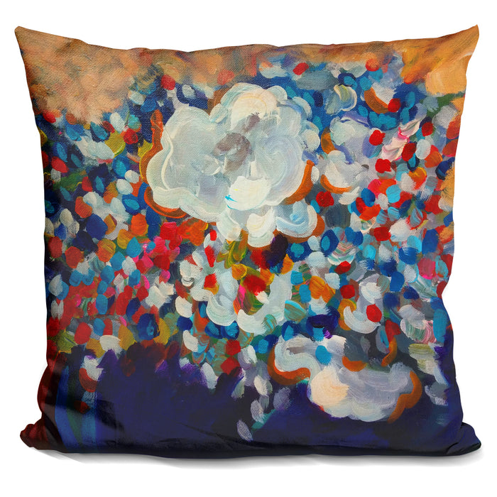 6 White Flowers Pillow