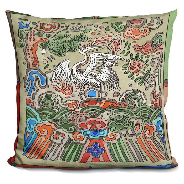 Asian Crane Pillow